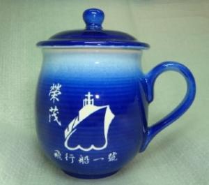 茶杯 U4011 雕刻杯雕刻船圖