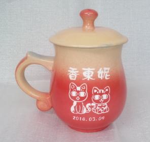 個人專屬杯08 鶯歌陶瓷雕刻杯雕刻 貓圖