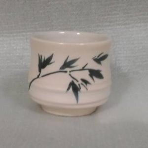 HW1002手拉竹子小茶杯+彩繪竹子圖
