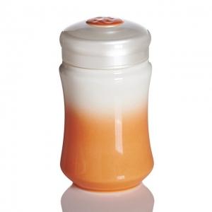 15-D1490 微笑曲線隨身杯 / 白橘 / 小 / 單層 320cc