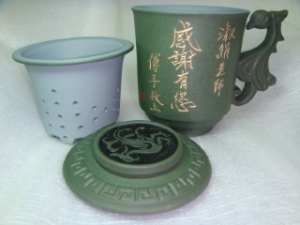 謝師禮物04  三件式 綠色鳳杯  謝師禮 教師節禮物