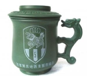 政府機關雕刻圖02 雕刻陸軍指揮部 LOGO圖 3件龍杯 泡茶杯